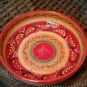 A beautiful hand painted Spanish plate
